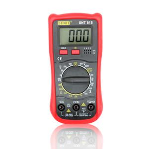 1999 cifre Studente nuovo di zecca uso voltmetro amperometro multitester con retroilluminazione LCD multimetro digitale DMM SNT818