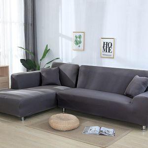 그레이 컬러 탄성 소파 소파 커버 이인용 의자 커버 소파는 거실 부분적인 커버 안락 의자 가구 커버