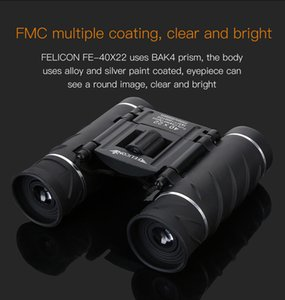Chaud 40x22 Binoculaire Portable Mini Télescope Zoom Lunettes de terrain Grand Mini Poche Télescopes Chasse HD Puissantes Jumelles