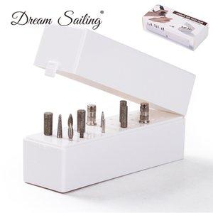 Contenitore per scatola punte per trapano punte unghie Scatola per trapano punte contenitore per organizzatore Contenitore per manicure in ABS 30 fori per parrucchiere bianco Nuovo
