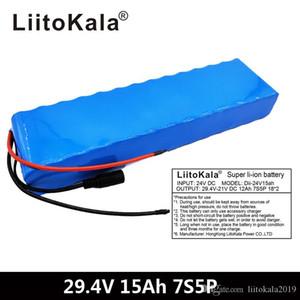LiitoKala 7S5P 29.4v 15AH электрический мопед Ebike самокат 24v литий-ионный аккумулятор 18650 литий аккумуляторы 15А