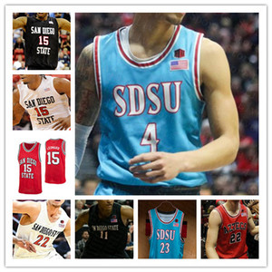 San Diego State Aztecs Men College Basketball SDSU Jersey Malachie Flynn Keshad Johnson Matt Mitchell Schäkel YANNI Wetzell Narain Leonard