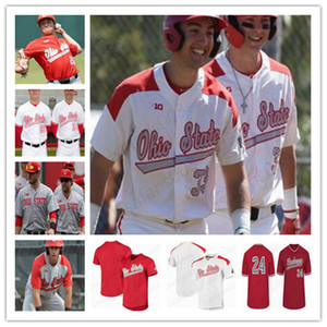 NCAA Ohio State Buckeyes Baseball stitched Jerseys 27 Fred Taylor 22 Steve Arlin 18 Bob Todd 13 Marty Karow 44 Connor Curlis