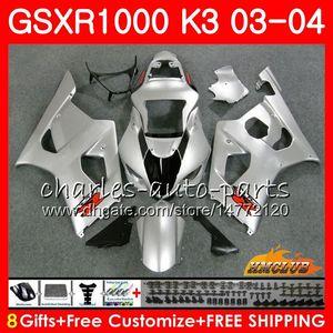 Рамка для Suzuki GSX-R1000 GSXR 1000 GSXR1000 03 04 Body 15HC.55 Bodywork GSX R1000 K3 GSXR-1000 глянцевый серебристый 03 04 2003 2004