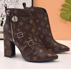 Diseñador de moda Mujer Botas Mejor Calidad Star Trail Botas de Tobillo Con cordones Con suelas resistentes ocio señora botas L2203