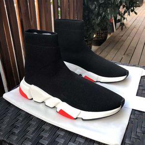 2020 Nouveau Pas Cher plate-forme de vitesse entraîneur hommes de Femmes Confortable Chaussettes Chaussures Noir Blanc Rouge Top Qualité Mode De luxe Designer Sneakers Casua