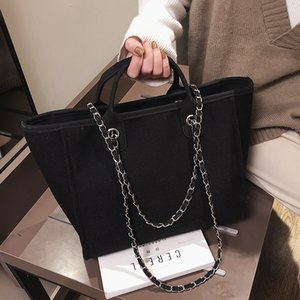 Pink Sugao new fashion tote bags women handbags chain shoulder bag large capacity new styles wild big handbag canvas materail