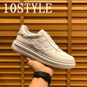 19FS 2020 Hot luxurious Mens Shoe White Sneakers Men Casual Shoes Comfort Walking Shoes Lace Up Men Sneakers Fashion Footwear Men us6-11