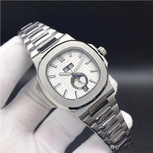 الجملة أعلى جودة الساعات نوتيلوس 5726 جلدية التلقائية الميكانيكية الرجال ووتش المرحلة القمر شهر الأشرطة جميع وظائف العمل