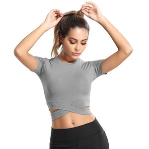 LUKITAS Women Yoga Shirts Sexy Sports Top Fitness Crop Solid Running Shirt Sport Gym Quick Dry Clothes Yoga Tank Tops Sportswear