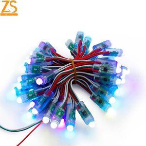 ZS 50pcs DC 5V WS2811 RGB Full Color 12mm Pixels Digital Addressable LED String IP68 China Factory