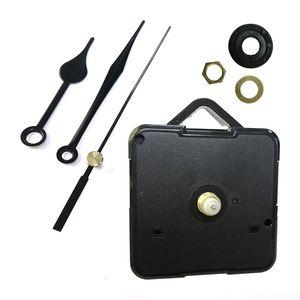 DIY del reloj de cuarzo Movimiento Kit Negro Reloj Accesorios husillo de reparación Mecanismo con la mano Conjuntos de accesorios colgantes Reloj