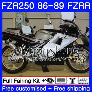 Кузов для YAMAHA fzrr коричневый глянцевый черный FZR 250 FZR250 1986 1987 1988 1989 249HM.39 FZR250RR ФЗР-250 ФЗР 250р FZR250R 86 87 88 89 обтекатель комплект