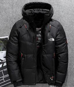 KUZEY ceketler Kamp Windproof Ski aşağı Kış erkekler Aşağı Kapüşonlular Beyaz ördek Aşağı Coat Açık Casual Kapşonlu Spor yüzü sıcaktır