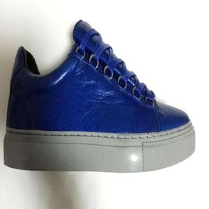 Free shipping Wholesale-new genuine leather men casual shoes arena Bal*nci*ga 5 colors low top shoes size 38-47 ew5