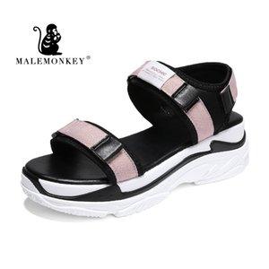 MALEMONKEY 821516 Lady Platform Sandalen Weiblich Espadrilles Sommer 2020 Lady Fashion Outdoor bequemer Frauen Sandalen offenZehen