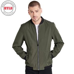 HTLB 2018 Autumn Men Casual Bomber Jacket Coat Men's Fashion Hip Hop Elastic Regular Fit Pilot MA1 Jacket Coats Men Plus Size