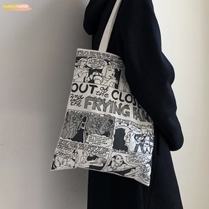 Canvas Bag Girls One Shoulder Canvas Japanese And Korean Street Cartoons Baita Ins Canvas Bag 2020 New Student One Shoulder Bag