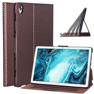 """화웨이 Mediapad M6 10.8 """"(PRO)에 대 한 30pcs 탄소 섬유 패턴 PU 가죽 케이스 VRD-L09 2019 태블릿 커버 가변"""