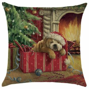 18x18 Рождество хлопок белье домашний диван наволочка наволочка кровать декор
