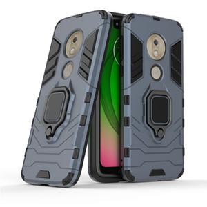 Pour Motorola Moto G7 Power Play E5 Case Téléphone Couverture 360 anneau tournant Béquille voiture Support magnétique Housse Nouveau design Black Panther