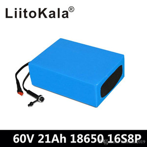 LiitoKala 60V 1500W Lithium ion battery 60v 21ah electric bicycle battery 60V 20AH scooter battery with 30A BMS+67.2V 2A Charger