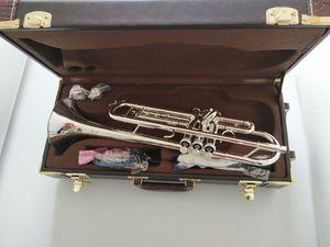 rendimiento Bach Stradivarius Bb Trumpet AB-190 plateado Instrumentos Musicales Boquilla gratuito con el caso