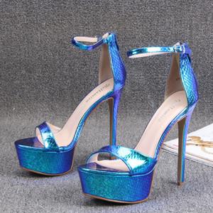 14CM Sandalet Kadınlar Seksi Balık Ağız Ayakkabı 2020 Bayan Düğün Göster Striptizci Topuklar Ayakkabı Kadın Yüksek Topuklar Walking Platformlar