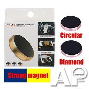 Universal Mini Air Vent Magnetic Car Mount Mobiltelefonhalter Mini Magnet Handfree Auto Metallständerinhaber für Samsung