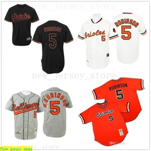 White grey orange black 1970 Throw Brooks Robinson Authentic Jersey Mens #5 Mitchell And Ness Be Orioles
