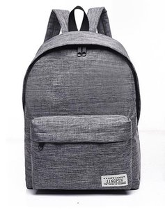 Solid Color Canvas Backpack Schoolbag Tide Small Fresh College Style Backpack Men and Women Fashion Travel Bag