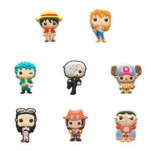 50pcs Classic Cartoon One Piece Shoe Charms Shoe Accessories Kids Buckles Fit Bracelets Croc Charms JIBZ Shoe Decoration Gift