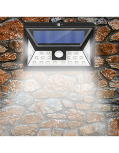 أضواء LED الشمسية في الهواء الطلق 24 المصابيح 3 وسائط اختياري ضوء استشعار الحركة اللاسلكية مع 270 درجة زاوية واسعة IP65 للماء