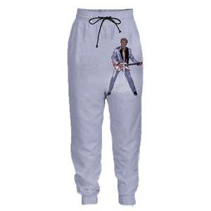 3D Print Pants rock Johnny Hallyday Sweatpants unisexe Hiphop Casual Joggers longues Pantalons Garçons taille élastique PANTALONS loose