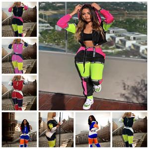 Spot 2019 couleur de la mode européenne correspondant col haut pantalon à capuche à manches longues costume de sport, soutien mixte lot