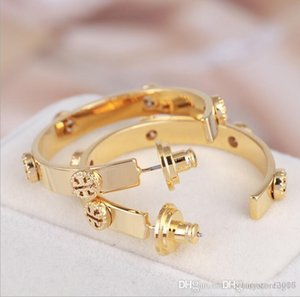 Brand Designer Gold Earrings Circle Hoop Style Fashion Earring Jewelry for Women Party Wedding Gift