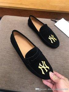 Klasik Erkek Siyah Nakış Düz Loafer'lar ile, en son Kanvas ayakkabılar Erkekler Katırlar Rahat Ayakkabılar Boyutu 38-45 Kutus ...