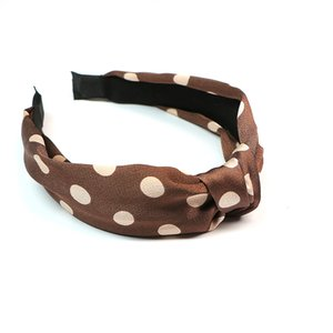 New creative polka dots wide knotted headband fashion accessories a variety of colors to choose from