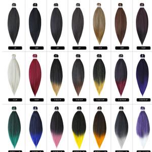 Ön Gerilmiş Kolay Sentetik Örgü Saç Jumbo Örgüler 26 inç Düşük Sıcaklık EZ Yaki Sentetik Örgüler Saç Uzantıları