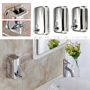 Xueqin 500ml 1000ml sapone liquido / shampoo erogatore in acciaio inossidabile Pompa Lotion Azione Parete Bagno durevole