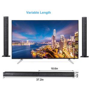 Freeshipping desmontable Bluetooth TV barra de sonido de alta fidelidad del altavoz Wireles torre de audio de sonido de cine en casa barra óptica para LED TV