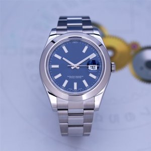High Quality Asian Watch 2813 Automatic Mechanical Men's Watch 116300 41mm Blue Dial Stainless Steel Strap Sapphire Glass Folding Buckle