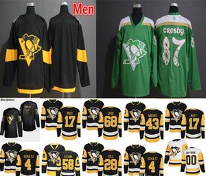 2019 Back Edição Dourada Pittsburgh Penguins Jerseys Hóquei 6 Jamie Oleksiak 1 Casey DeSmith 2 Chade Ruhwedel 12 Dominik Simon Stadium Série