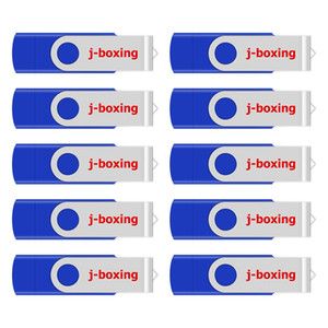 j_boxing azul 10PCS 8GB OTG USB 2.0 Flash Drive Swivel polegar Drives Memory Stick Pen de armazenamento para computador Android Smartphone Tablet Macbook