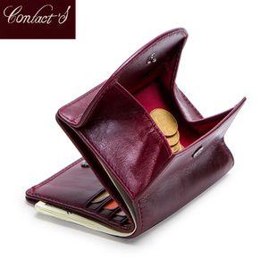 Portamonete femminile della borsa del portafoglio delle donne del cuoio genuino per le ragazze femminile piccolo Portomonee Lady Perse Sacchetto della carta dei soldi Mini frizione Y19051702