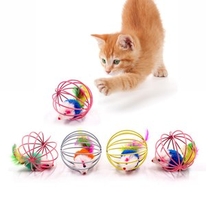 Supplies Toys Cat Interactive Toy Stick Feather Wand With Small Bell Mouse Cage Toys Plastic Artificial Colorful Cat Teaser Toy