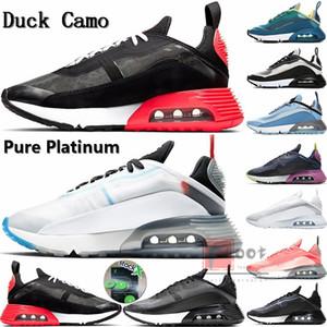 2090 Ejecutar las zapatillas de deporte de la X Con Pure Platinum inversa Pato Camo década de 2090 Triple uva blanca Negro de los zapatos corrientes para los hombres estrella de las mujeres Formadores