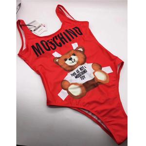 Pequeño oso Diseñador de moda Traje de baño Bikini de lujo para mujer Carta Marca Traje de baño Vendaje Bi Quinis Traje de baño sexy