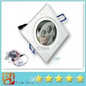 Soffitto luce Square Downlight Led 9W 3X3W 720 lumen Led lampada da soffitto da incasso downlight dimmerabile bianco naturale/caldo/freddo AC 110-240V 5 x