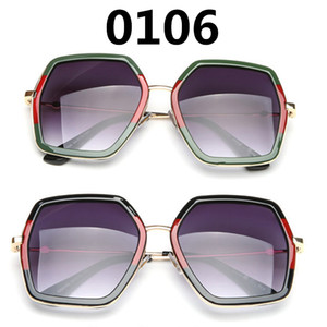 Più nuovo 0106 Bee Sunglasses Donne Brand Brand Struttura sovradimensionata Polygon Fashion Show Style Eyewear Signora Occhiali da sole